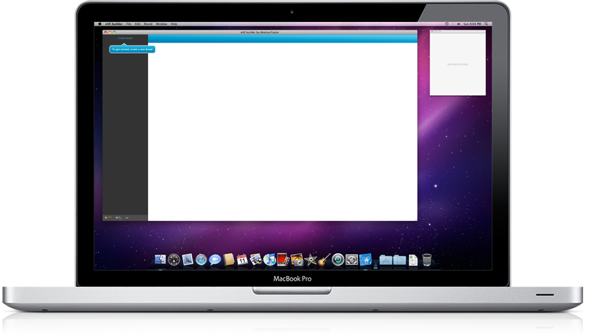 eVE builder running on Mac OS X